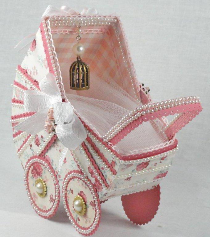 厚紙で作る♡バスケットとベビーカーの折り方☆ロマンティック小物入れ