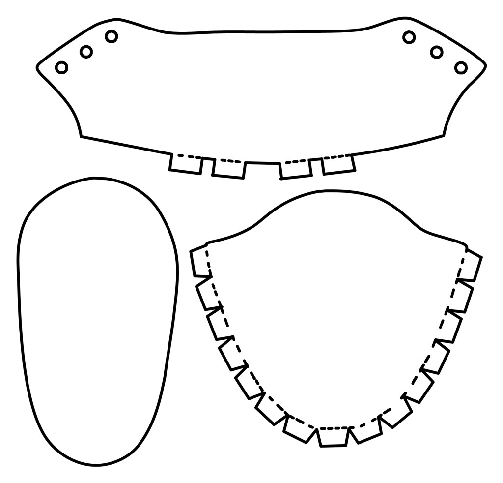 Baby Boy Shoe Template