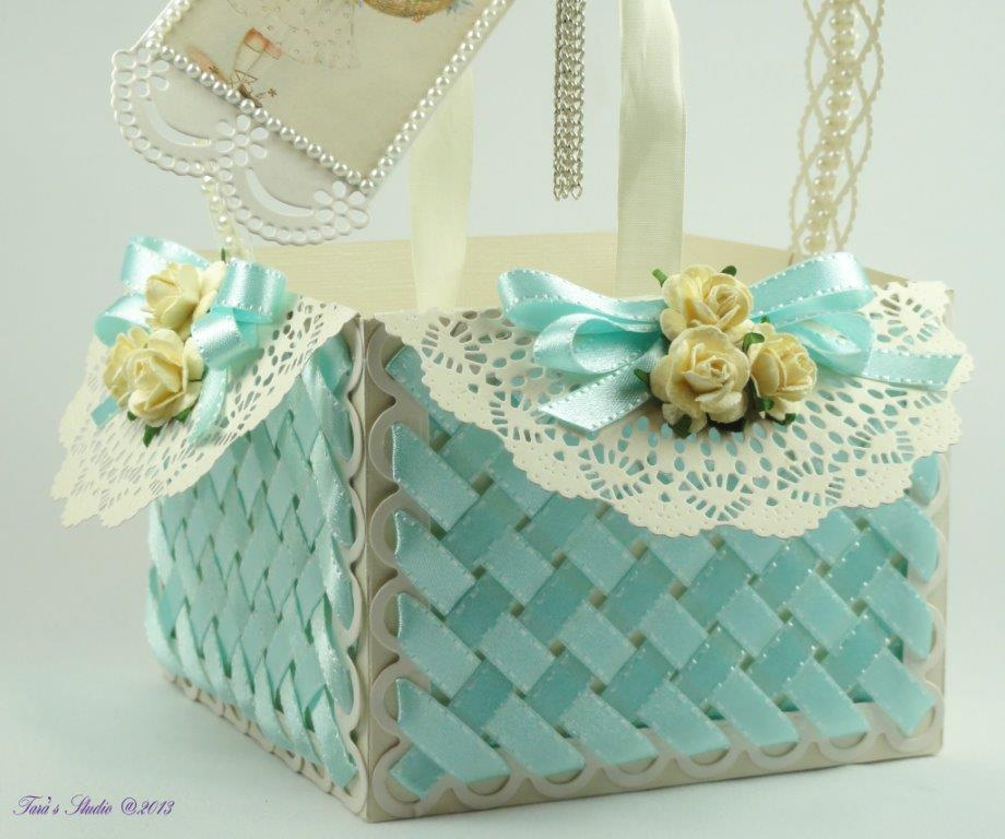 Tara's Card Studio - Blue Basket Img 4