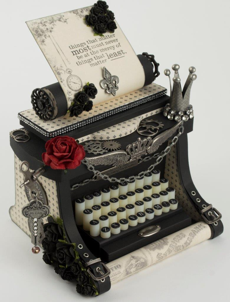 Steampunk typewriter box Tara Brown