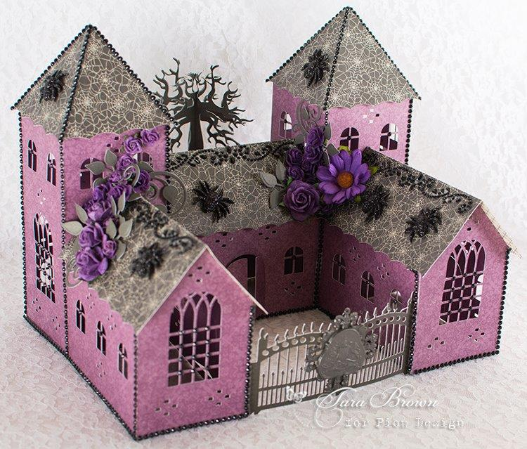todays project can also be found on pion designs blog here and was made using several cutting files the castle cutting file is by monica and can be found - Violet Castle 2016
